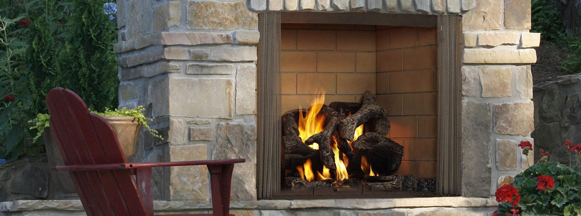 Castlewood Wood Burning Outdoor Fireplace Monessen Hearth