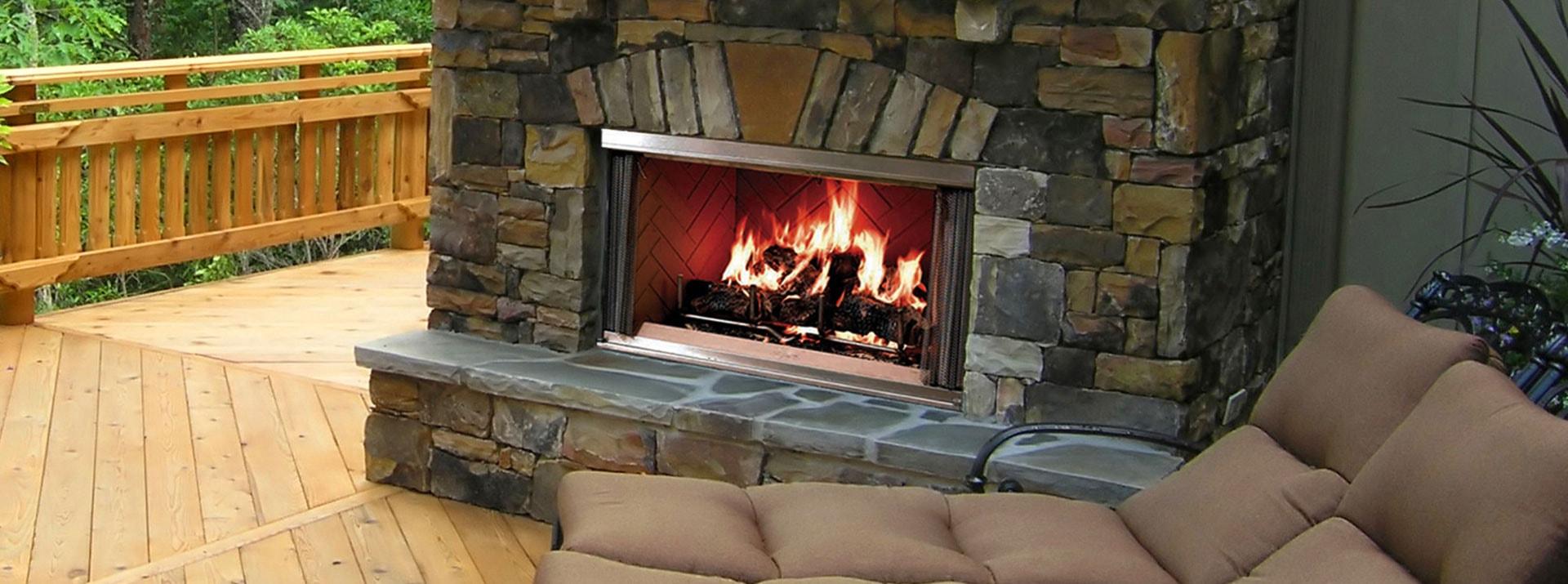 Montana Wood Burning Outdoor Fireplace Monessen Hearth