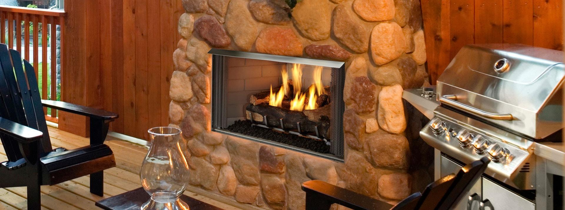 Villa Gas Fireplace