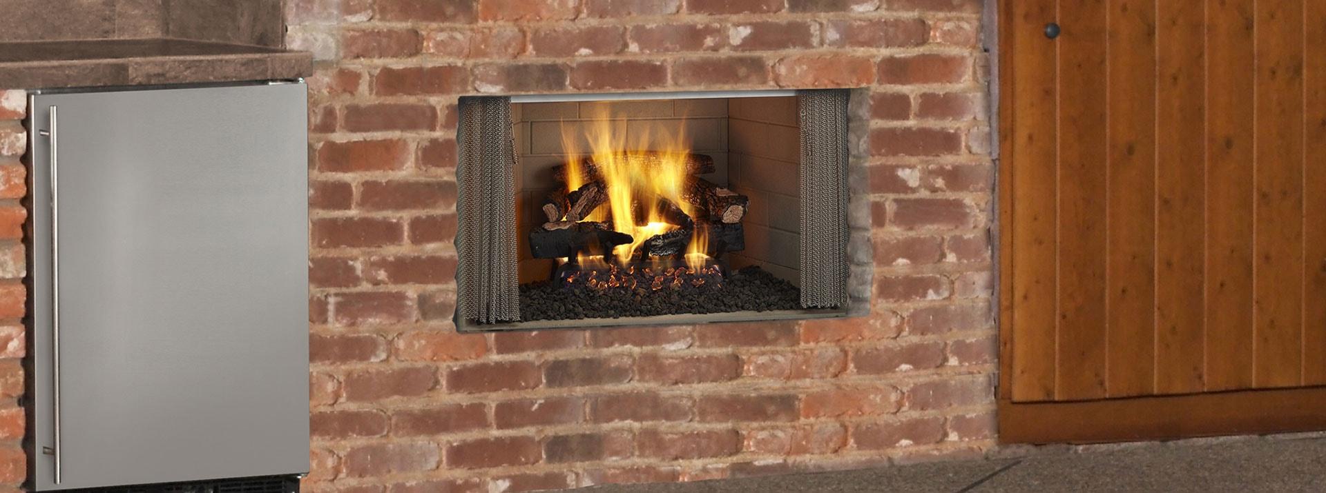 Villawood Wood Burning Outdoor Fireplace Monessen Hearth