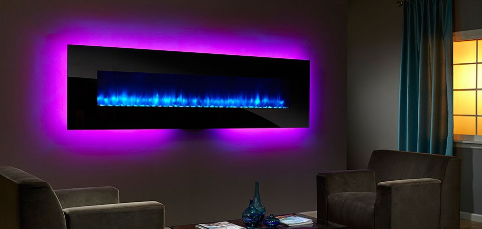 Wall Hanging Electric Fireplace simplifire wall-mount electric fireplace series