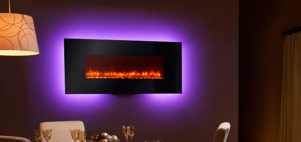 Wall Mounted Electric Lights : SimpliFire Wall-Mount Electric Fireplace Series