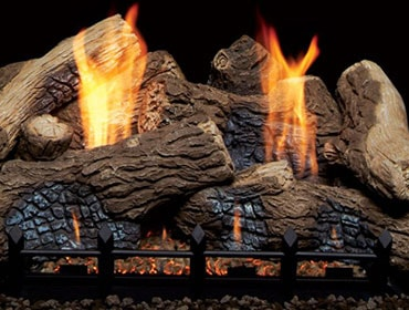 Berkley Oak Ceramic Fiber Vent Free Gas Log Set