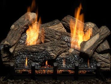 Berkley Oak Refractory Vent Free Gas Log Set
