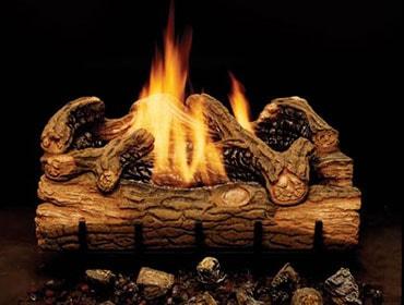 Charred Hickory Vent Free Gas Log Set
