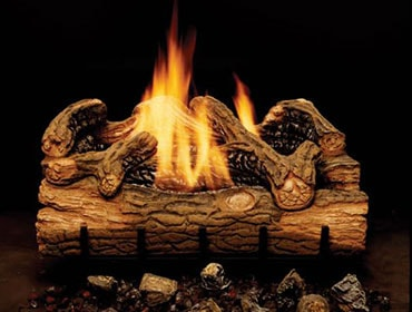Charred Hickory Vent Free Gas Log Set