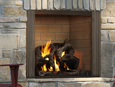 Castlewood Wood Burning Outdoor Fireplace