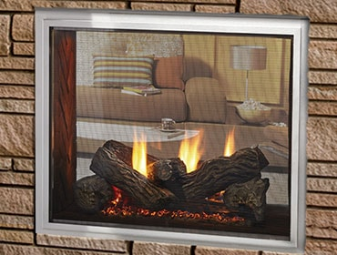 Fortress See-Through Gas Outdoor Fireplace