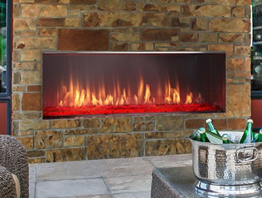 Lanai Gas Outdoor Fireplace