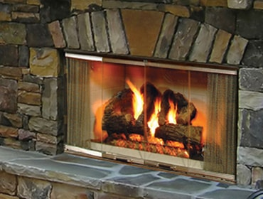 Montana Wood Burning Outdoor Fireplace